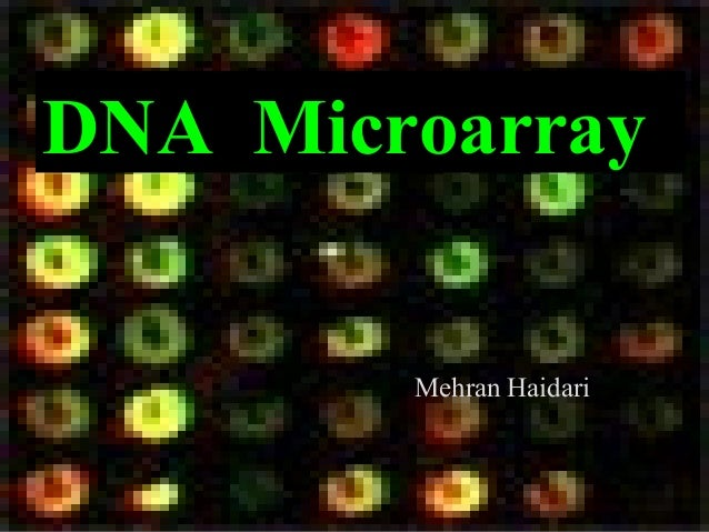 DNA Microarray Mehran Haidari