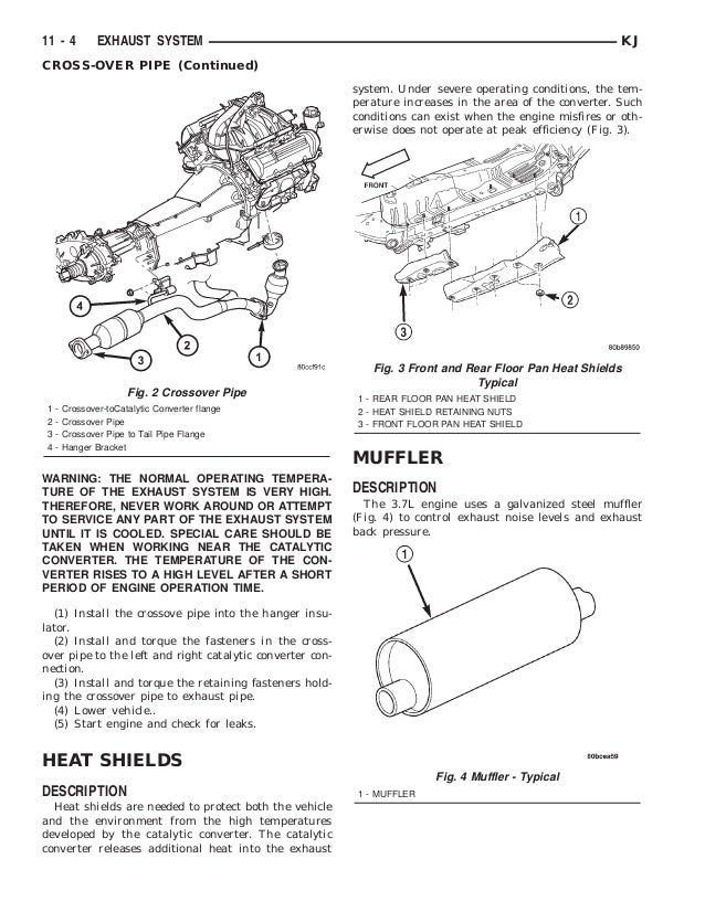 Jeep Liberty 2002 2005 Exhaust System