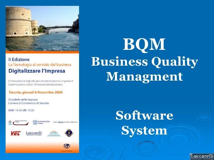 BQM<br />Business QualityManagment<br />Software<br />System<br />
