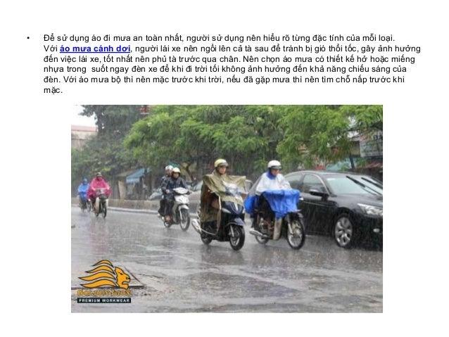 Bí quyết chọn áo mưa khi đi xe máy trong mùa mưa Slide 3