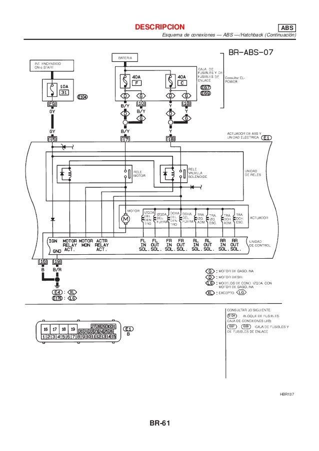 Br Manual de taller Nissan Almera modelo m16 sistema de freno