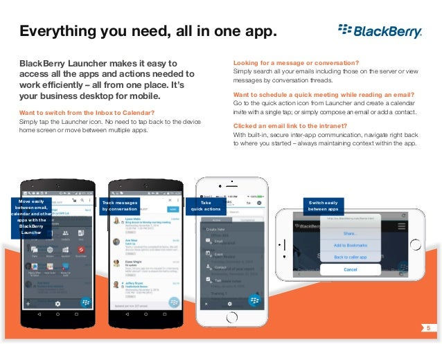 Introducing BlackBerry Work for End Users: A Better Way to Work