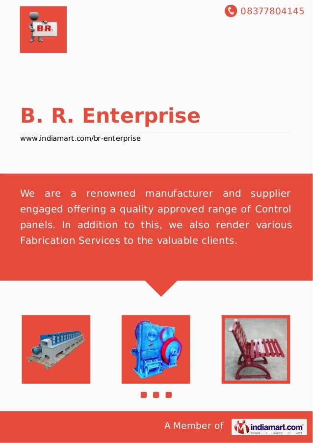08377804145 A Member of B. R. Enterprise www.indiamart.com/br-enterprise We are a renowned manufacturer and supplier engag...