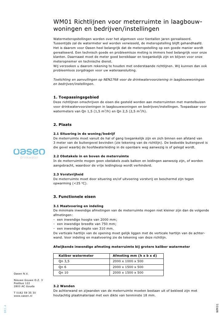 WM01 Richtlijnen voor meterruimte in laagbouw-                              woningen en bedrijven/instellingen            ...
