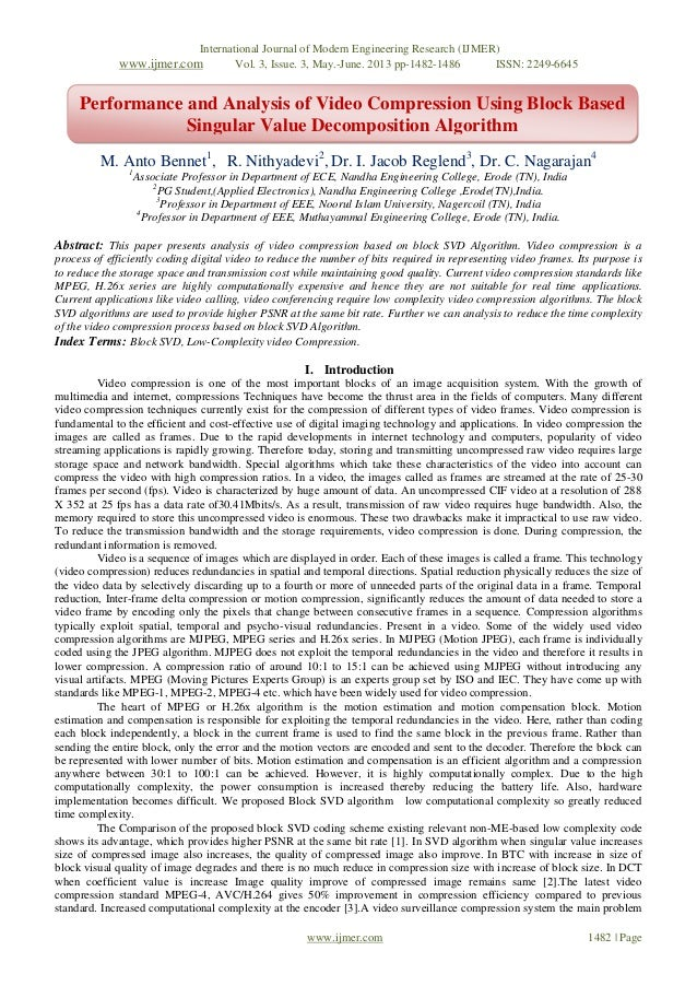 International Journal of Modern Engineering Research (IJMER)www.ijmer.com Vol. 3, Issue. 3, May.-June. 2013 pp-1482-1486 I...