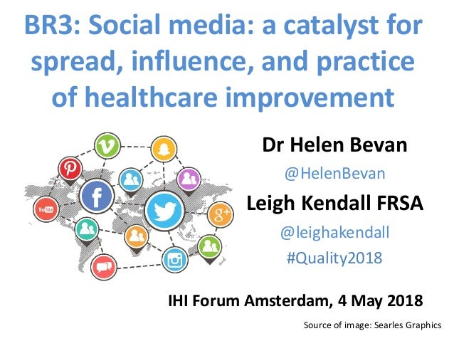 Source of image: Searles Graphics BR3: Social media: a catalyst for spread, influence, and practice of healthcare improvem...