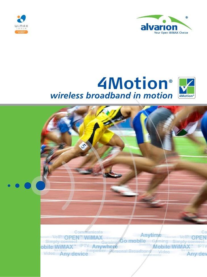 4Motion          ®   wireless broadband in motion   4Motion®