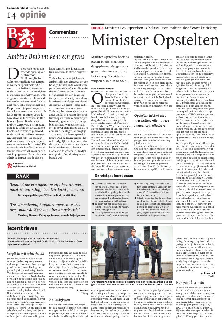 brabantsdagblad.nl vrijdag 6 april 201214 | opinie                                                                        ...