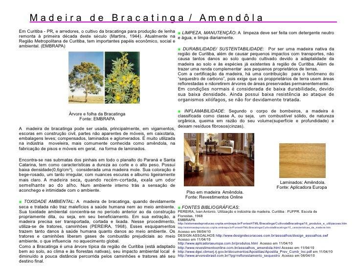Madeira de Bracatinga / AmendôlaEm Curitiba - PR, e arredores, o cultivo da bracatinga para produção de lenha ■ LIMPEZA, M...