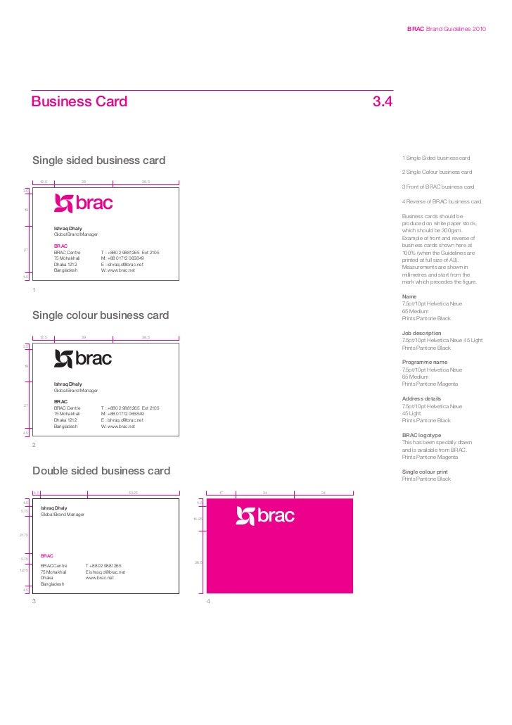 Brac brand guidelines 27 brac brand guidelines 2010 business card reheart Images