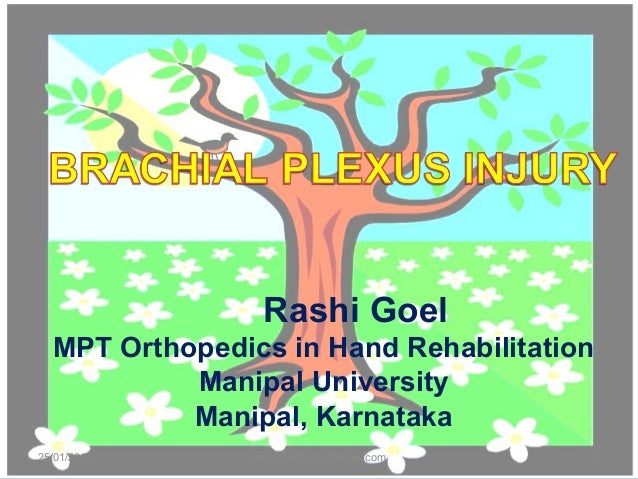 Rashi Goel MPT Orthopedics in Hand Rehabilitation Manipal University Manipal, Karnataka 25/01/2014 1rashigoelphysio@gmail....