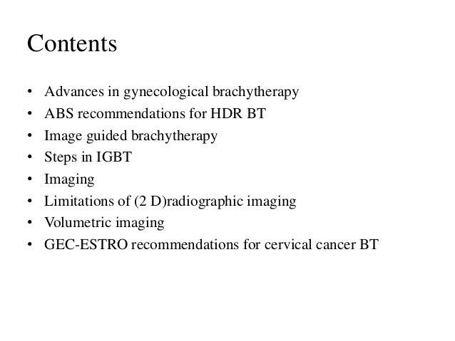 image guided brachytherapy carcinoma cervix Slide 2