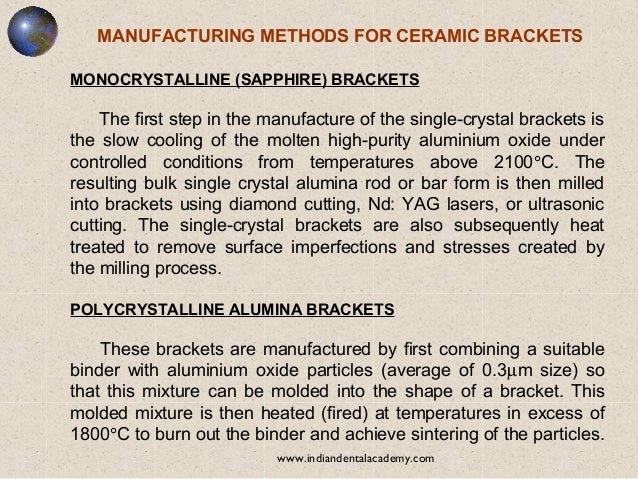Orthodontic Bracket Materials