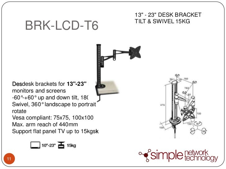 Brateck Bracket Technology Simple Network Technology