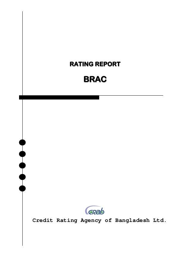 RATING REPORT              BRACCredit Rating Agency of Bangladesh Ltd.