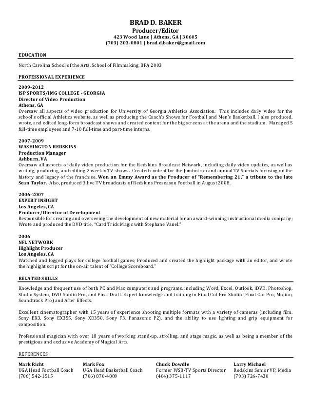 BRAD D. BAKER ...  Baker Resume
