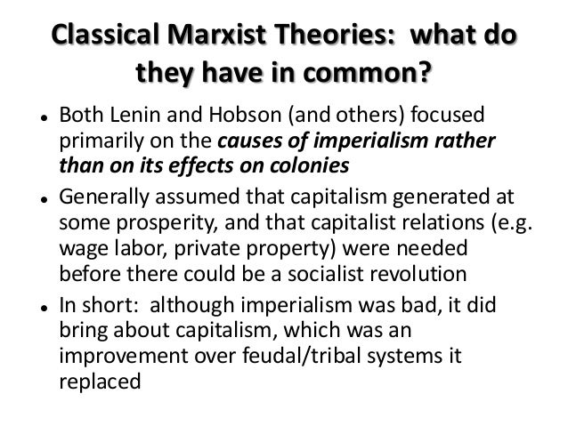 hobson-lenin thesis on the cause of european imperialism European empire in it, the familiar colonial opportunities or demand 20 hobson, lenin and others claimed that the imperial elites as the cause of empire.