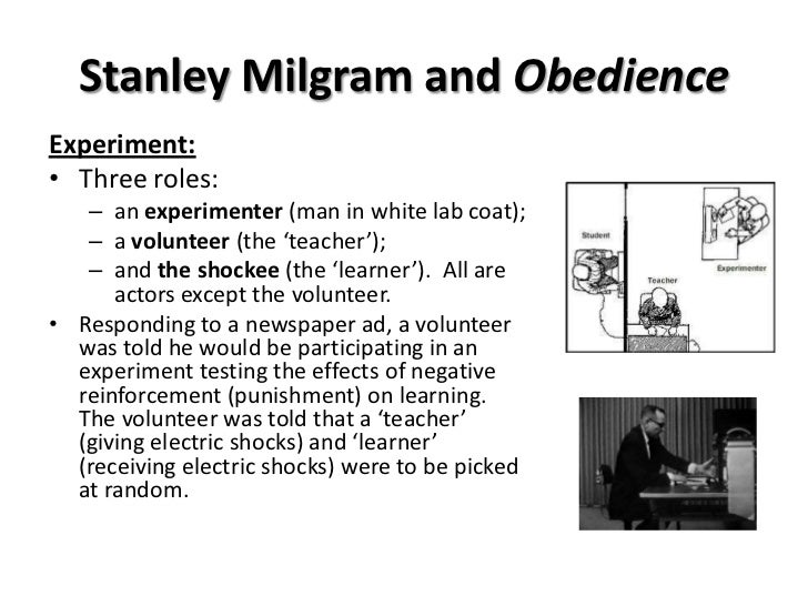 psychology milgram experiment The milgram experiment was a series of experimental studies that took place in the 1960s to investigate how willing subjects were to obey an authority figure even.