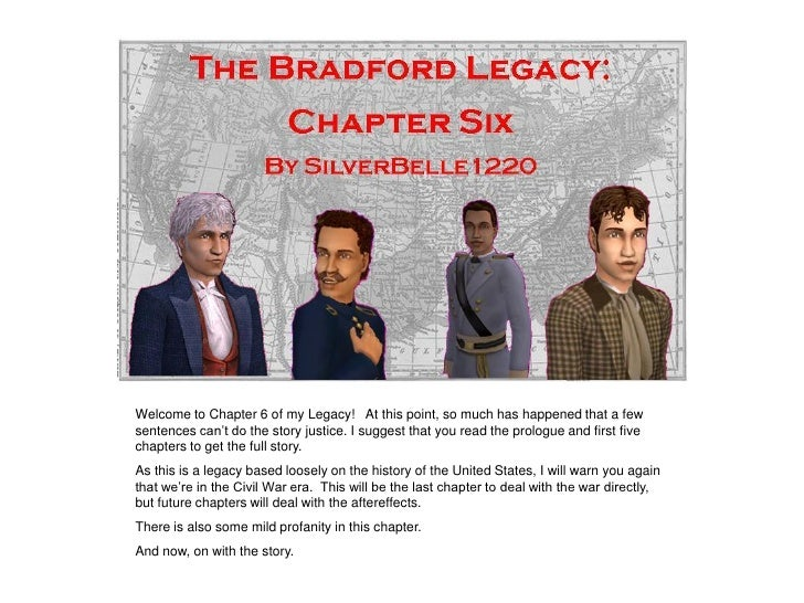 """Welcome to Chapter 6 of my Legacy! At this point, so much has happened that a few sentences can""""t do the story justice. I ..."""