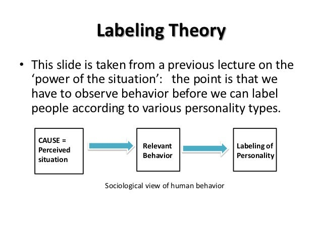 labelling theory on crime and deviance Labeling theory: deviance results from being labeled a what are any two assumptions of feminist perspectives on deviance and crime according to labeling theory.