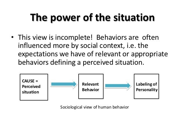 the power of context human behavior Some people become influential even though they don't overtly use powerful behavior power as a relational of the central motives for gaining power in human.