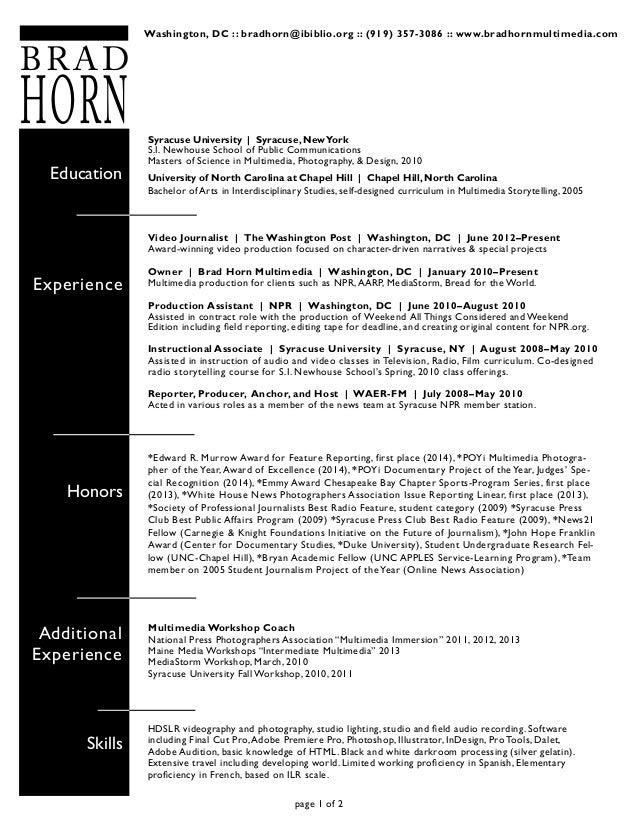 brad horn resume