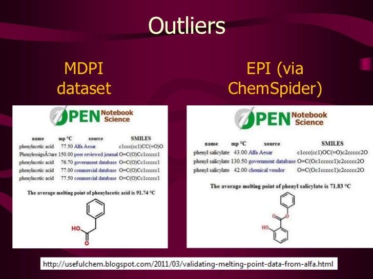 Outliers<br />MDPI <br />dataset<br />EPI (via ChemSpider)<br />