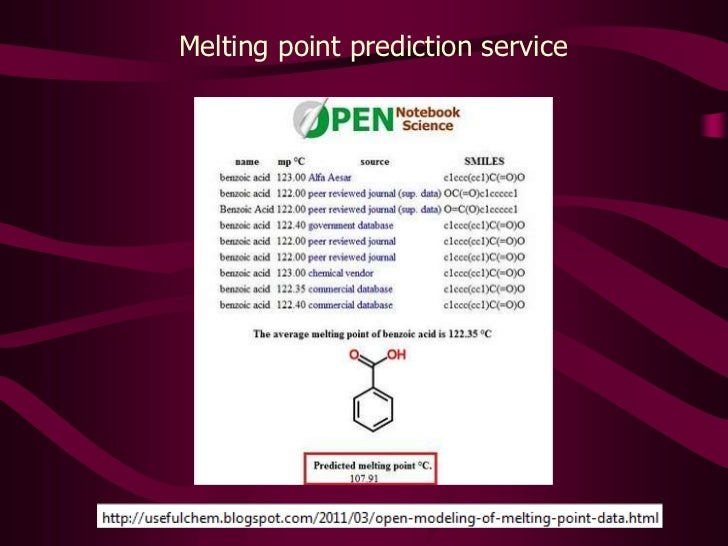 Melting point prediction service<br />