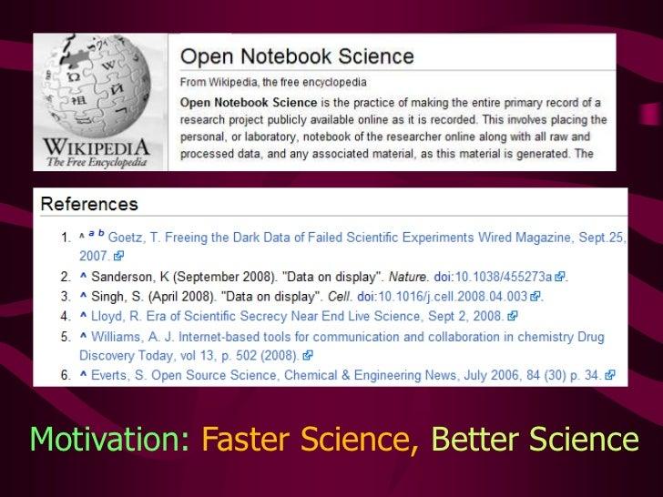Motivation: Faster Science,Better Science<br />