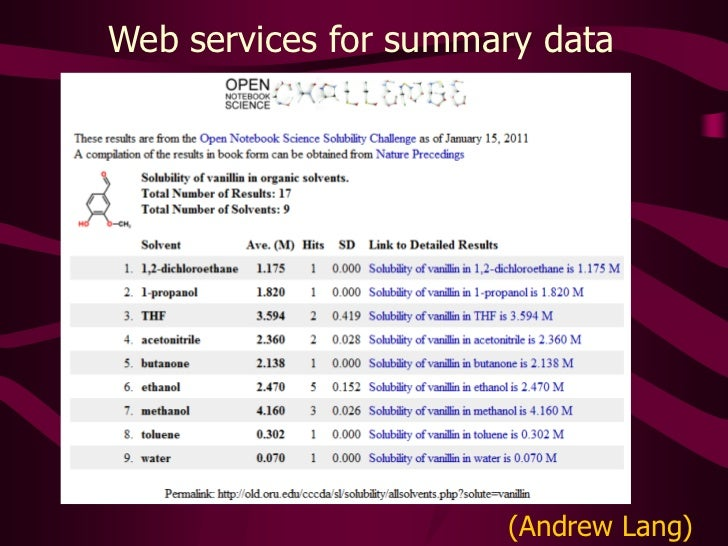 Web services for summary data<br />(Andrew Lang)<br />