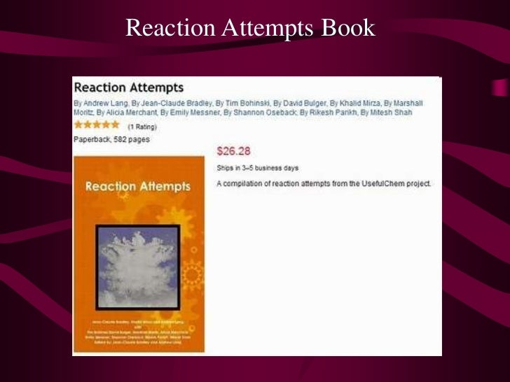 Reaction Attempts Book<br />