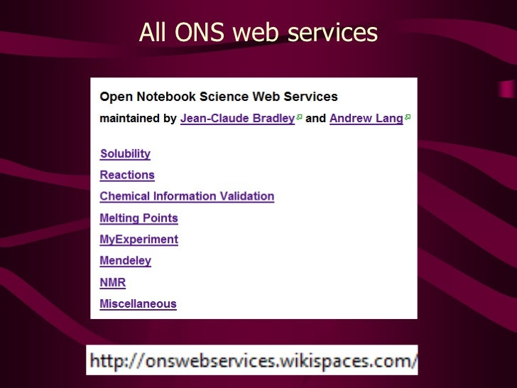All ONS web services <br />