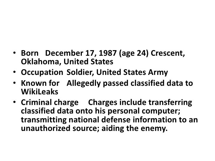 • Born December 17, 1987 (age 24) Crescent,  Oklahoma, United States• Occupation Soldier, United States Army• Known for Al...