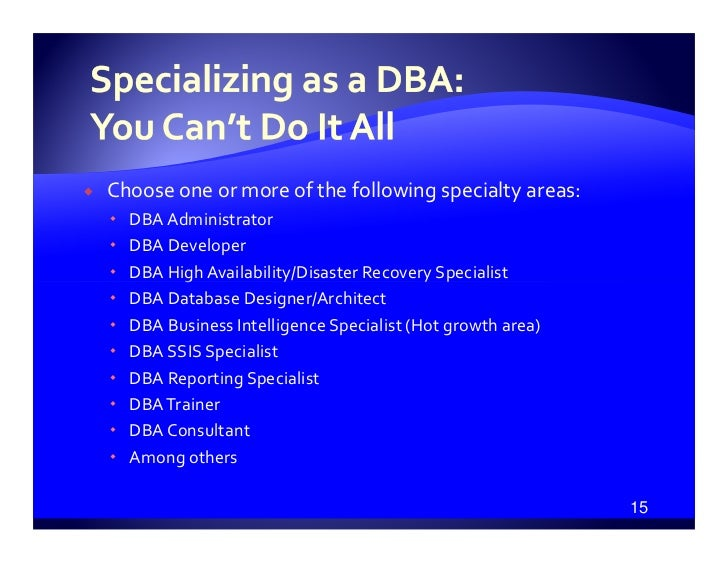 how to become a sql dba