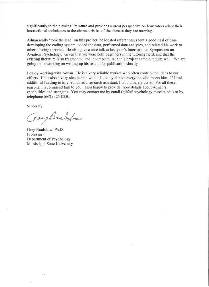 recommendation letter for paraprofessional