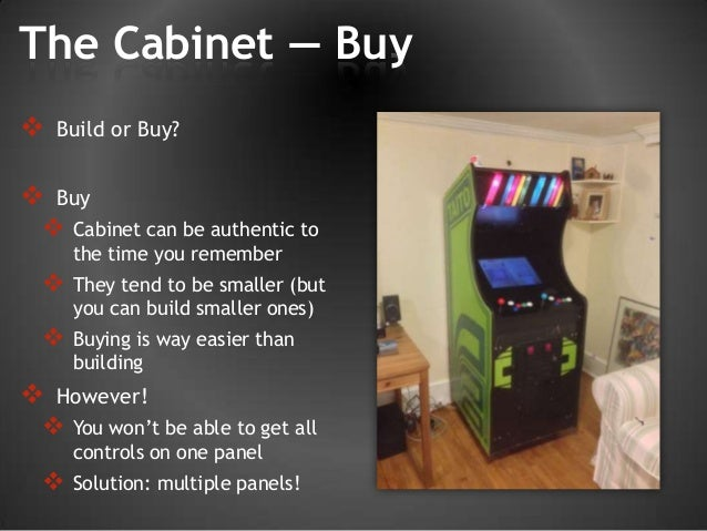 Brads mame arcade story build your own vintage arcade together 21 the cabinet buy build solutioingenieria Image collections