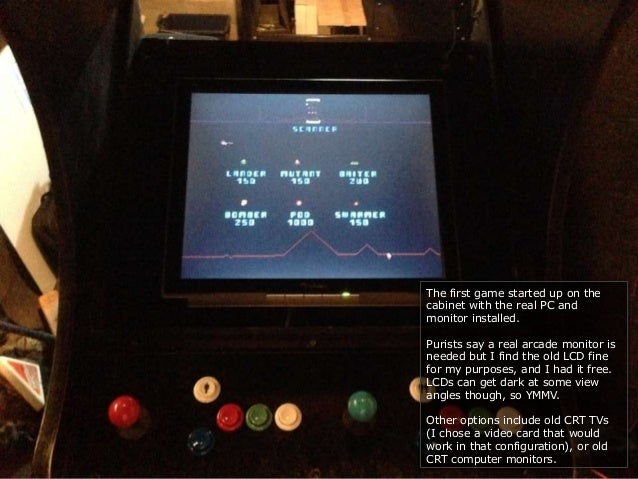 Brad S Mame Arcade Story Build Your Own Vintage Arcade
