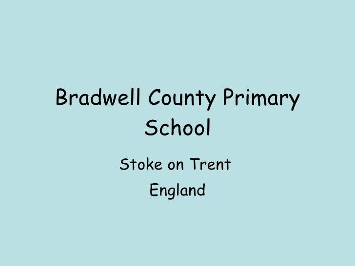 Bradwell County Primary School Stoke on Trent  England
