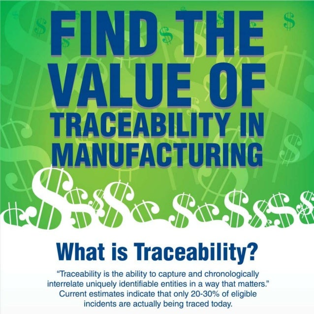 The Value of Traceability in Manufacturing