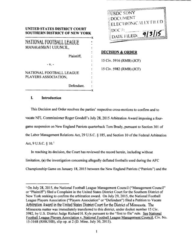 UNITED STATES DISTRICT COURT SOUTHERN DISTRICT OF NEW YORK -------------------------------------------------------)( NATIO...
