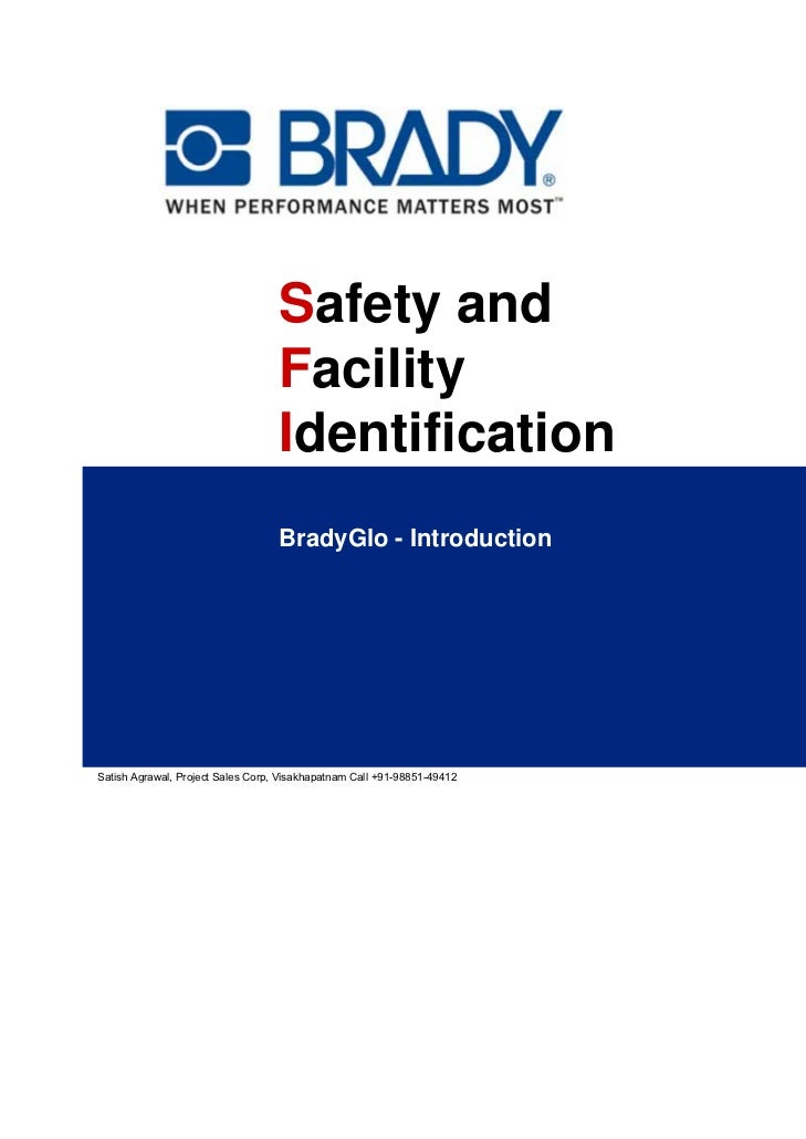 Safety and                                   Facility                                   Identification                    ...