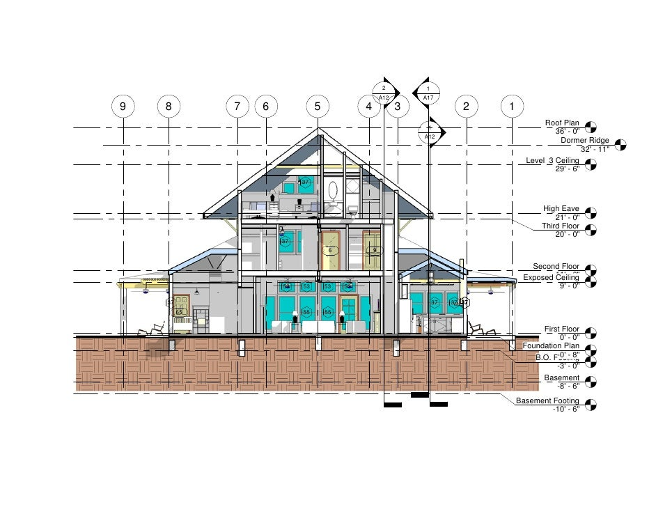 Small House Section Section 1 Long Axis N S