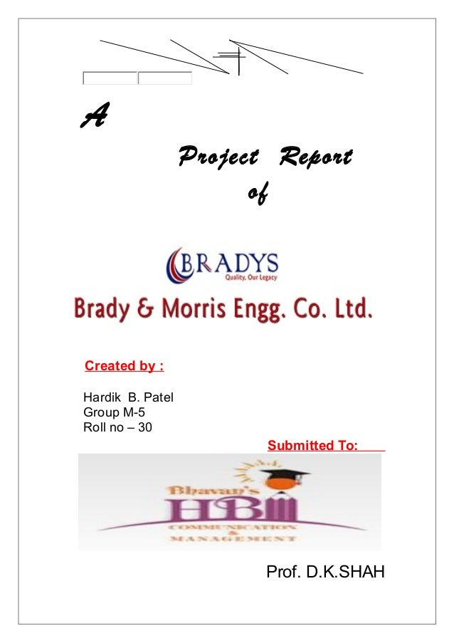 A                  Project Report                        ofCreated by :Hardik B. PatelGroup M-5Roll no – 30               ...