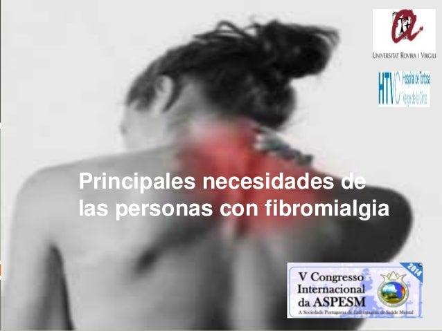   Principales necesidades de las personas con fibromialgia