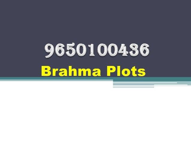 9650100436 Date 26Jan Brahma Plots on Golf Course Extension Road