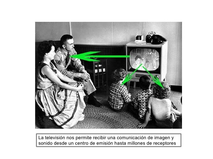 La televisión nos permite recibir una comunicación de imagen ysonido desde un centro de emisión hasta millones de receptores