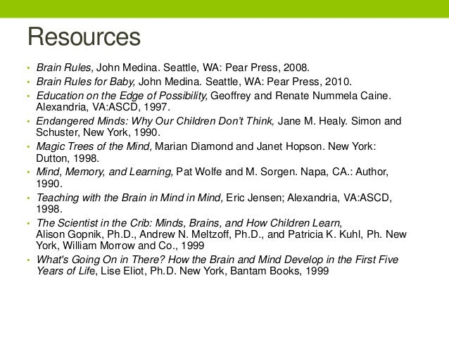 brain rules for baby john medina pdf