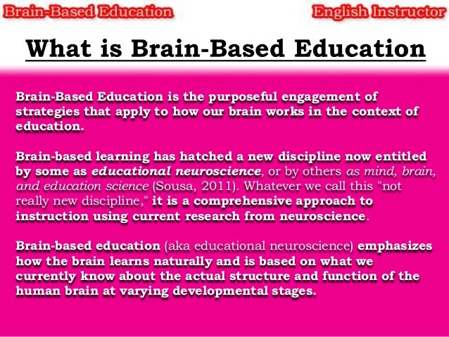 brain based learning graduate research papers