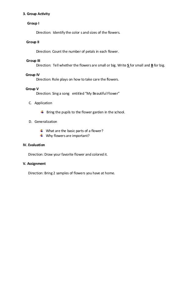 Brain based lesson plan