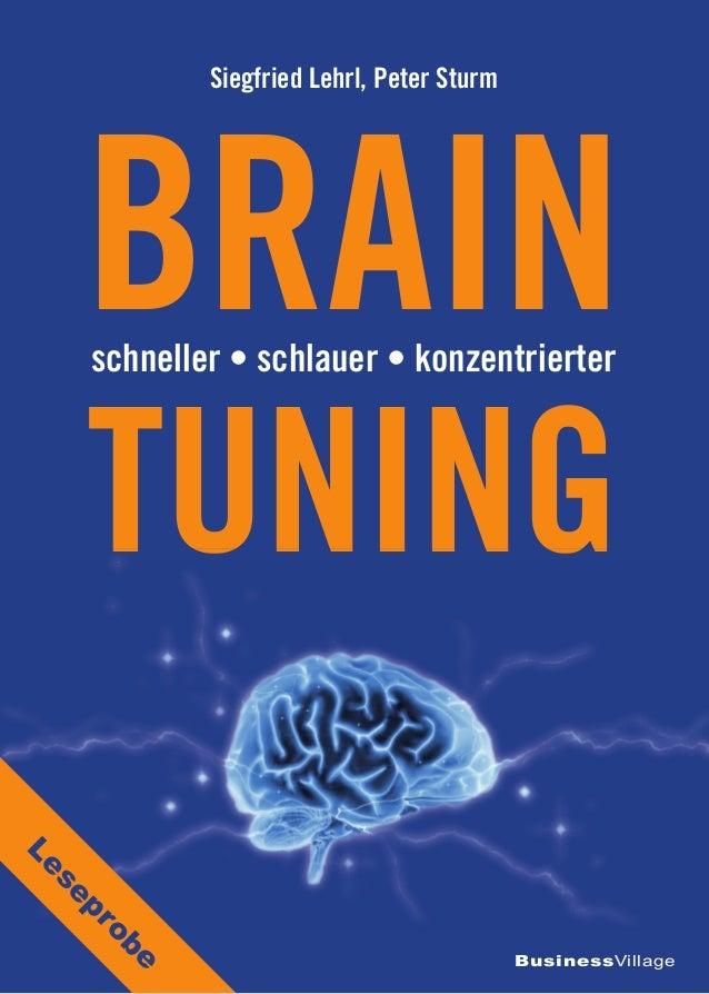 BusinessVillage BRAIN Siegfried Lehrl, Peter Sturm schneller • schlauer • konzentrierter TUNINGTUNING Leseprobe